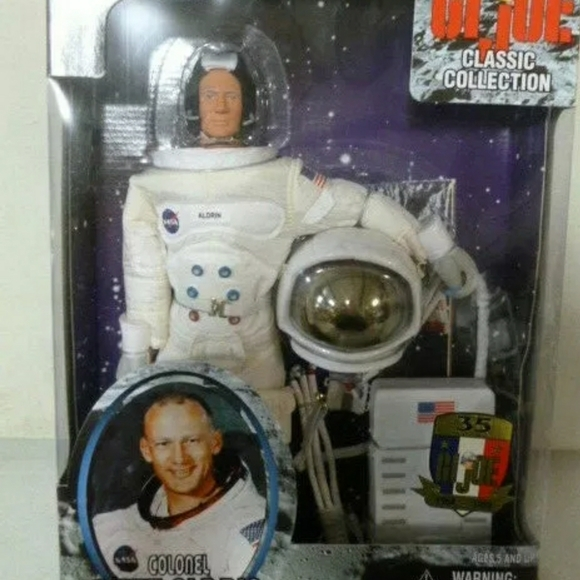GI Joe Classic Collection COLONEL BUZZ ALDRIN Astronaut in NASA Space Suit NEW